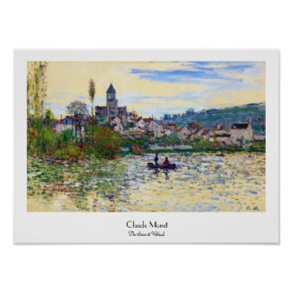 The Seine at Vetheuil  Claude Monet Poster