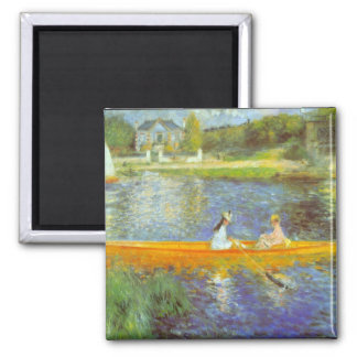 The Seine by Pierre Renoir 2 Inch Square Magnet