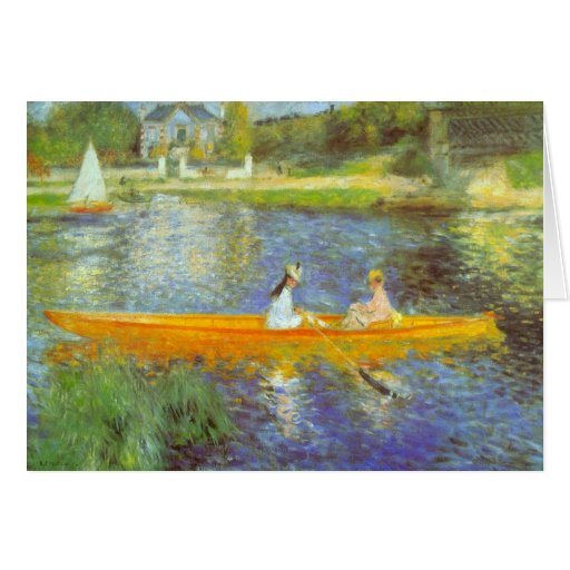 The Seine by Pierre Renoir Greeting Card