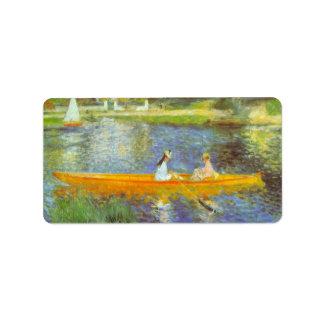 The Seine by Pierre Renoir Label