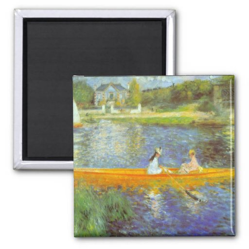 The Seine by Pierre Renoir Magnet