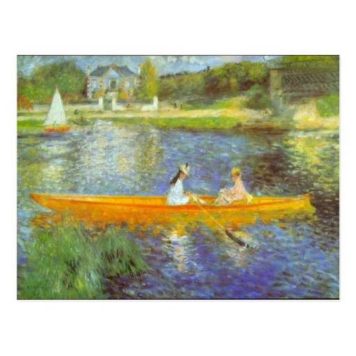 The Seine by Pierre Renoir Postcards