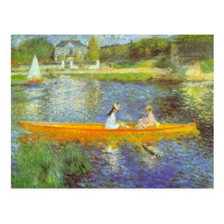 The Seine by Pierre Renoir Post Card