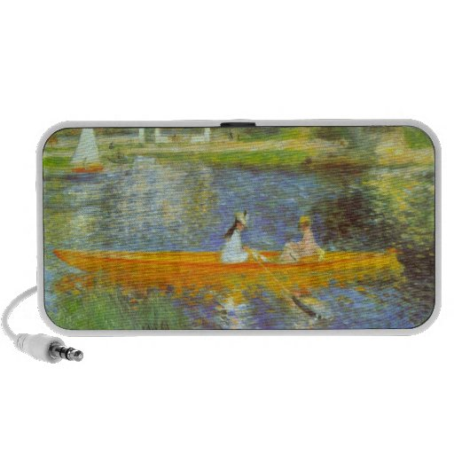The Seine by Pierre Renoir Notebook Speakers