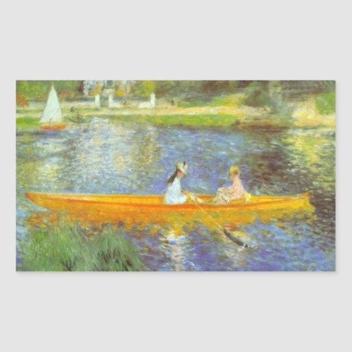 The Seine by Pierre Renoir Rectangle Stickers