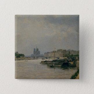 The Seine from the Quai de la Rapee Pinback Button