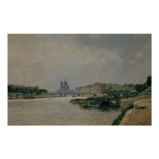 The Seine from the Quai de la Rapee Poster