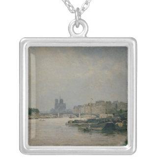 The Seine from the Quai de la Rapee Silver Plated Necklace