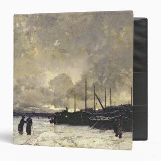 The Seine in December, 1879 3 Ring Binder