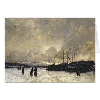 The Seine in December, 1879 Card