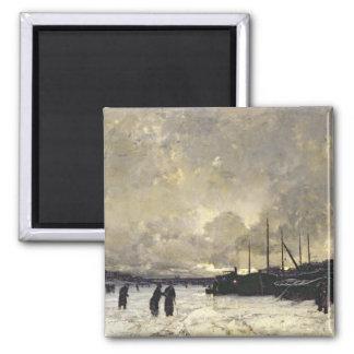 The Seine in December, 1879 Magnet