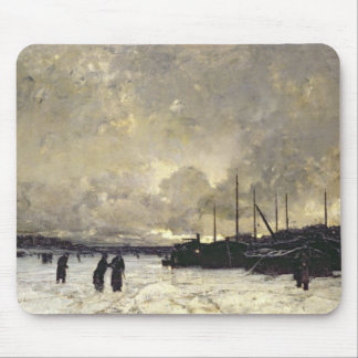 The Seine in December, 1879 Mouse Pads