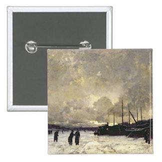 The Seine in December, 1879 Pinback Button
