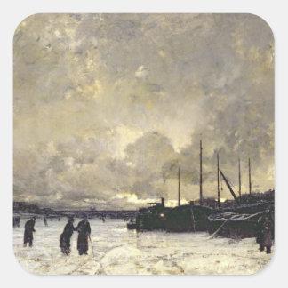 The Seine in December, 1879 Square Sticker