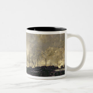 The Seine in December, 1879 Two-Tone Coffee Mug