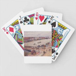 The Seine in Flood, Rouen by Camille Pissarro Bicycle Playing Cards