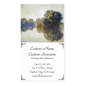 The Seine near Giverny Claude Monet Double-Sided Standard Business Cards (Pack Of 100)