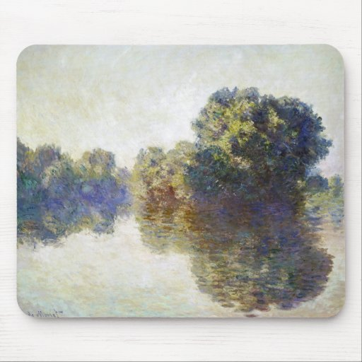 The Seine near Giverny Claude Monet Mouse Pad