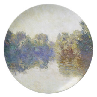 The Seine near Giverny Claude Monet Party Plate