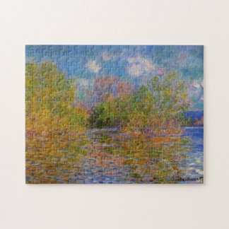 The Seine near Giverny Monet Fine Art Jigsaw Puzzle