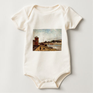 The Seine opposite the wharf de passy Paul Gauguin Baby Bodysuit