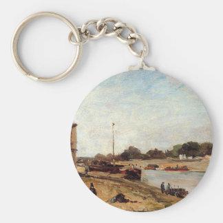 The Seine opposite the wharf de passy Paul Gauguin Keychain