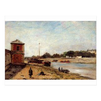 The Seine opposite the wharf de passy Paul Gauguin Postcard