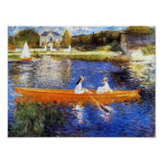 The Seine River At Asnieres Renoir Fine Art Poster