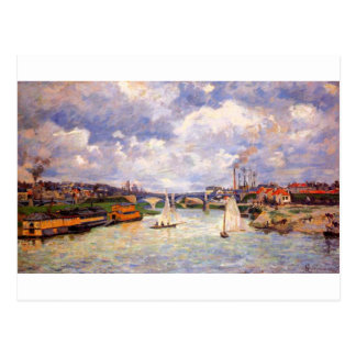 The Seine river at Charenton by Armand Guillaumin Postcard