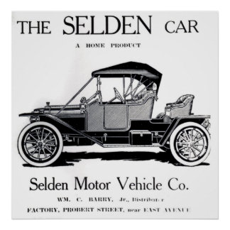 THE SELDEN CAR POSTER