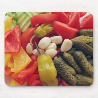 The selection of vegetables. mouse pad
