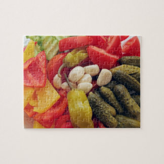 The selection of vegetables. puzzles