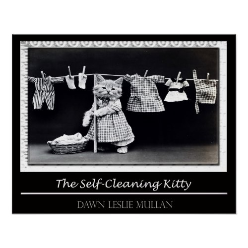 The Self-Cleaning Kitty Poster