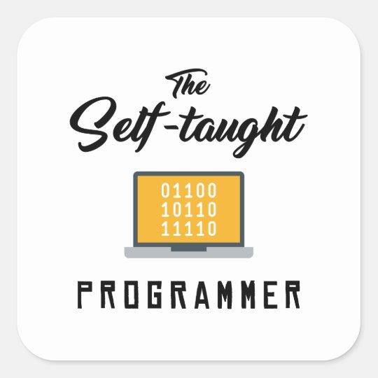 The Self Taught Programmer Sticker Zazzle