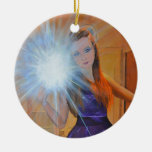 The Selfie Double-Sided Ceramic Round Christmas Ornament