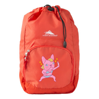 The selfie queen Frenchie High Sierra Backpack