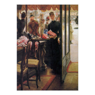 The Seller by James Tissot Poster
