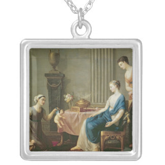 The Seller of Loves, 1763 Silver Plated Necklace