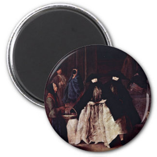 The Seller Of The Essences By Longhi Pietro Magnet