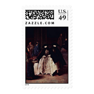 The Seller Of The Essences By Longhi Pietro Postage Stamp
