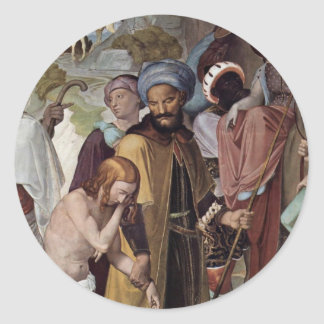 The Selling Of Joseph Detail By Overbeck Friedrich Round Sticker