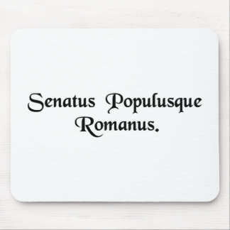 The Senate and the Roman people. Mousepads