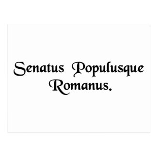 The Senate and the Roman people. Postcard