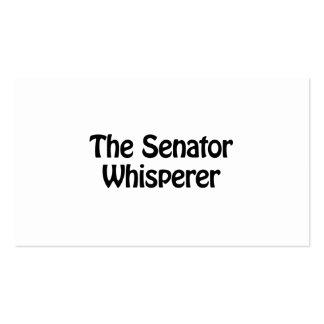 the senator whisperer Double-Sided standard business cards (Pack of 100)