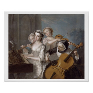 The Sense of Hearing, c.1744-7 (oil on canvas) Poster