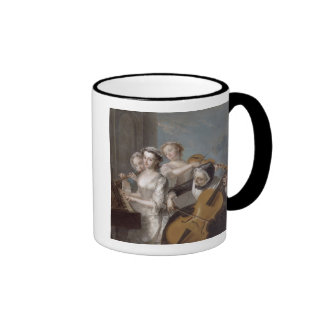 The Sense of Hearing, c.1744-7 (oil on canvas) Ringer Coffee Mug