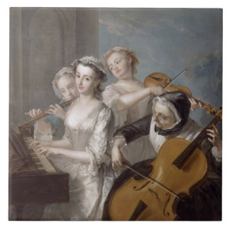 The Sense of Hearing, c.1744-7 (oil on canvas) Tile