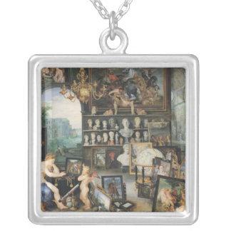 The Sense of Sight, 1617 Square Pendant Necklace
