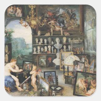 The Sense of Sight, 1617 Square Sticker