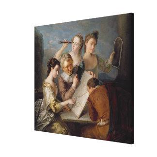 The Sense of Sight, c.1744-47 (oil on canvas) Canvas Print